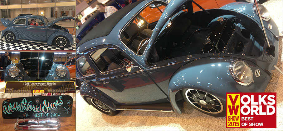1958 Volkswagen Beetle that Won Best Of Show at Volks World 2015 - Banner Image 2 Double H Restorations